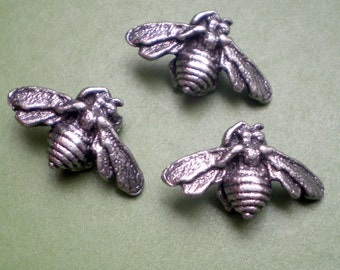 Bee Bead: Lead Free Pewter (lot of 3)