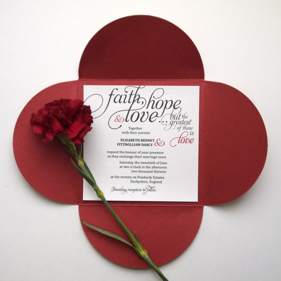 items similar to calligraphy wedding invitation with bible