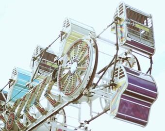 Photo Print - Carnival, Ferris Wheel, Town Fair, Childrens Carnival Rides