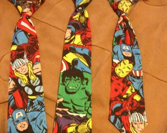 Superhero youth ties extra small to Large