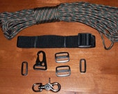 Complete DIY Single Point Tactical Rifle Sling Kit 550 Paracord