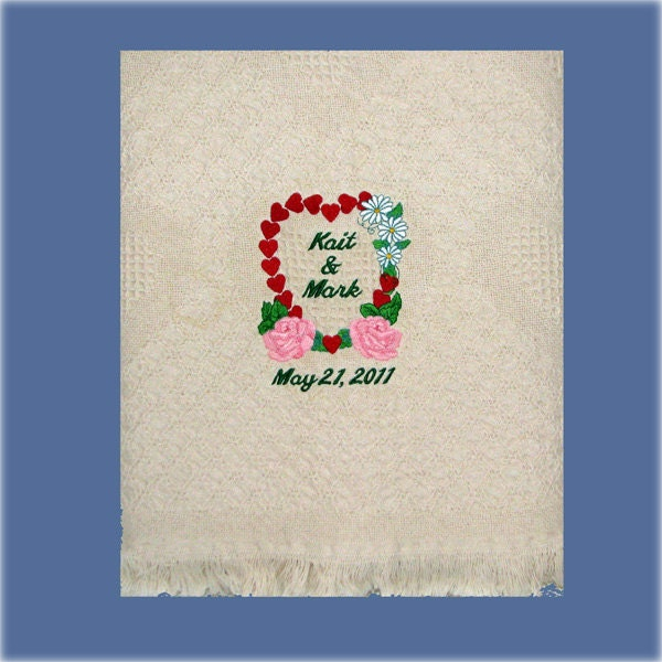 Personalized Wedding Blanket Throw With By EmbroideryStation1