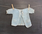 Vintage Baby Blue Knit Ribbon Sweater - thelittlemonsters