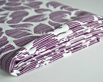 Fabric - Purple and White Flowers