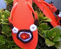 Orange  Flip flop size 8