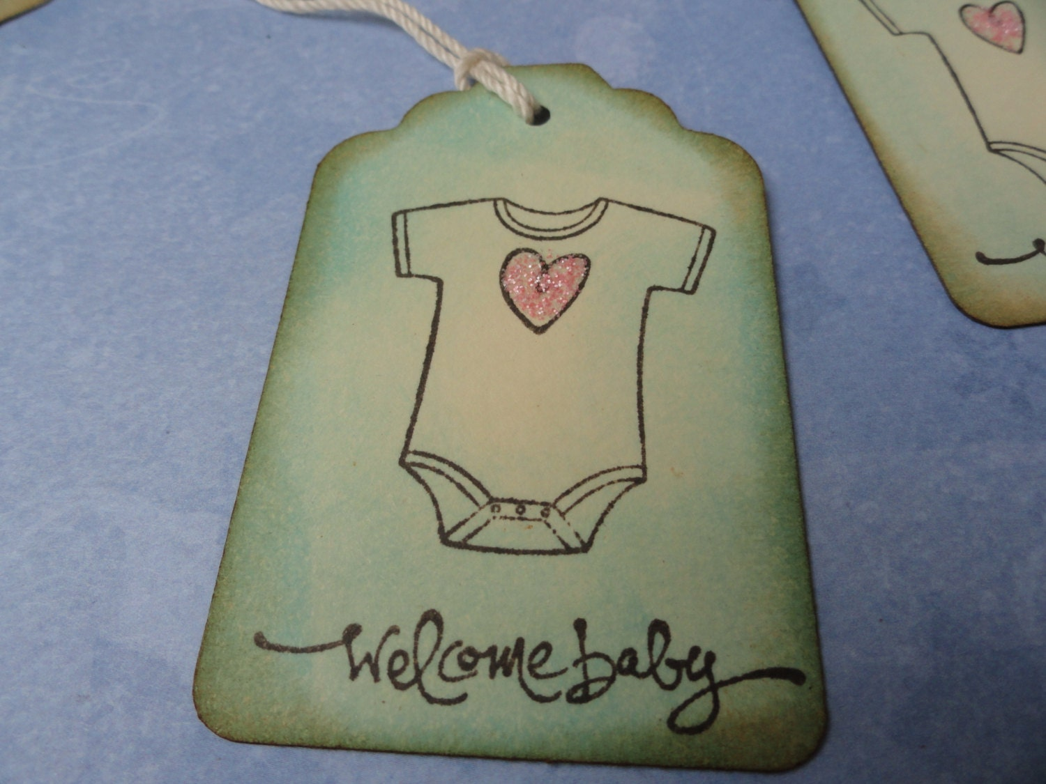 New Baby Boy Gift Tag : Baby onesie tags boy small gift tag new