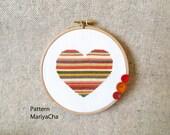 Heart cross stitch pattern Needlepoint
