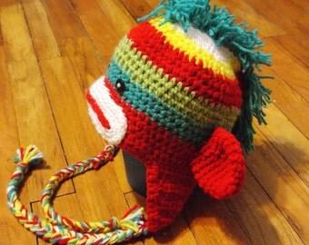 Punk Rocker Rainbow Sock Monkey