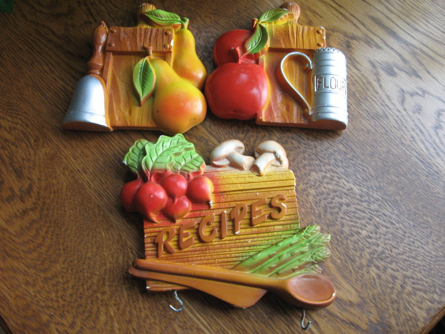 Chalkware Kitchen Decor 1981 Fruit Design By Rosearborvintage
