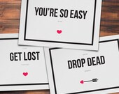 Funny Printable Valentine's Day Cards (Pack of 6)