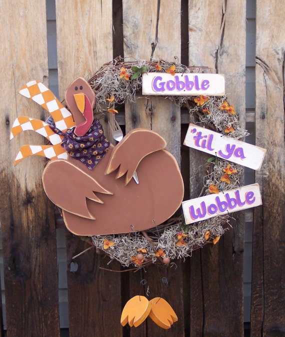 Items similar to Turkey Wreath Wood Craft Pattern for Fall ...