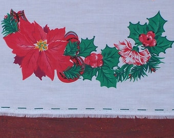 Vintage Fabric Panel, Daisy Kingdom Fabric Panel,Tartan Floral Cardigan Cut Out 1308