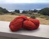 100% California WoolAlpaca / 4 oz. 150 yards Naturally Dyed with Madder Root In Mendocino County