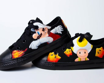 Super Mario and Toad Fan Shoes