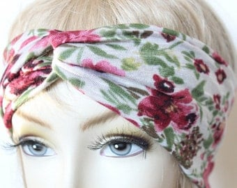 Floral  Print TurbansTwisted  Headband great accessory for your outfit