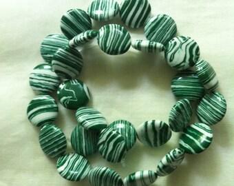 Malachite Coin Gemstones, Necklaces, Bracelets, Earrings, Gift