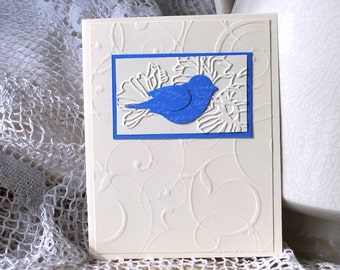 Handmade Greeting Card: Handmade Card, Blue Bird, Birthday, Graduation, Wedding, Anniversary