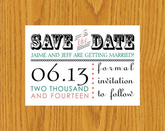 Digital Printable Save the Date Template