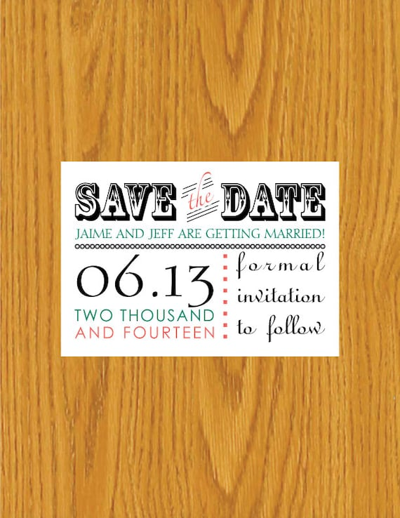 digital printable save the date template by jennielynnedesigns With electronic save the date templates