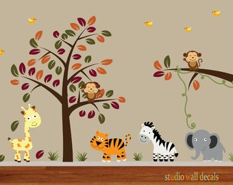 Kids Tree Wall Fabric Decal ECOFRIENDLY Non-Toxic Reusable Fabric Decal - 900