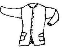 PI730 -  1770's Civilian Coat Pattern by Period Impressions