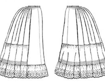 TV170 - 1870-1897 Victorian Petticoats Sewing Pattern by Truly Victorian