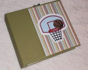 6x6 PreMade Basketball Chipboard Scrapbook Photo Album