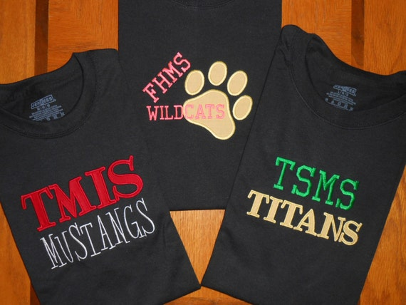 Custom team spirit t shirt school spirit t shirt sports for Custom school t shirts