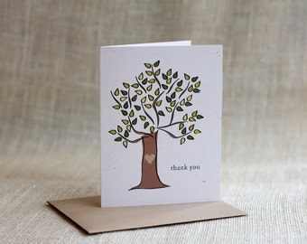 Thank you notecard - set of 8