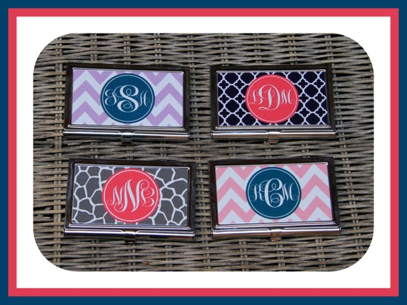 Gifts for Co Workers Custom Business Card Case, Personalized Business Card Case Monogrammed Business Card Personalized Gift For Coworker