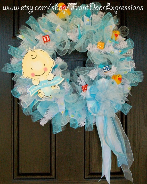 it 39 s a boy baby shower wreath or great for a gift
