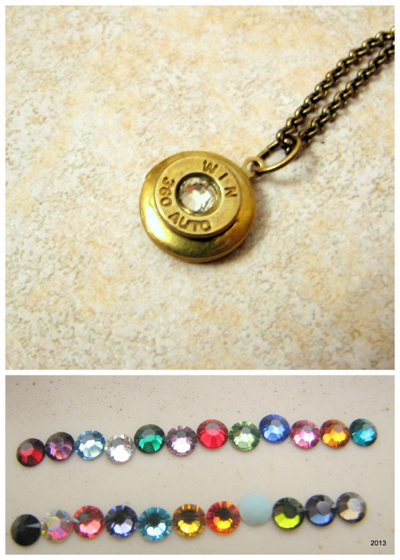 Bullet Locket Necklace- Bullet Jewelry -Birthstone Jewelry -Minimalist Jewelry- Pendant- Country Girl- Conservative