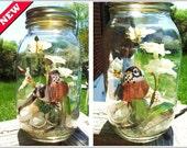 Steampunk Flower and Mason Jar Decor