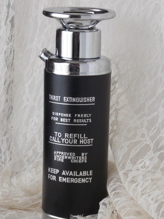 Thirst Extinguisher Musical Decanter Art Deco Barware Fire