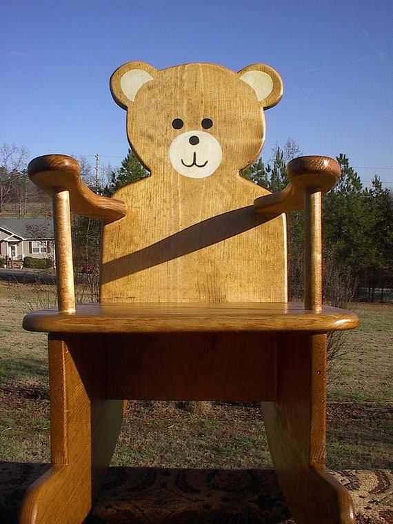 items similar to teddy bear rocking chair on etsy. Black Bedroom Furniture Sets. Home Design Ideas