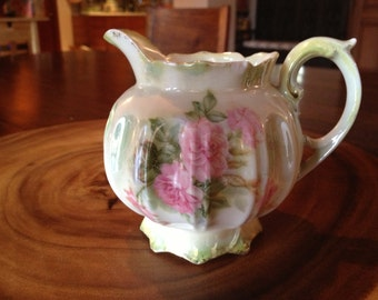 R S Prussia Creamer Pitcher with slight damage