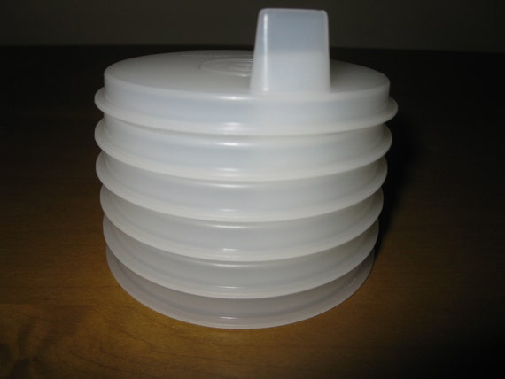 Vintage Tupperware Sippy Cup Lids Set Of 6 Fits Bell