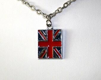 Sammie  -  British flag (Union Jack) necklace
