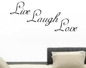Live Laugh Love Decal Sticker Wall boy girl happy teen children nice
