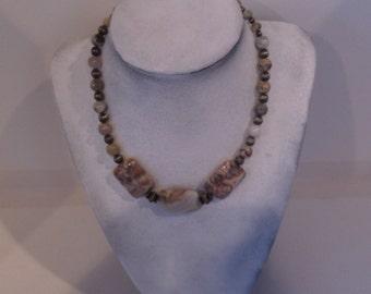 Short ocean jasper necklace