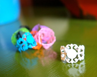 Adjustable Blank Ring -Assorted Colors- You get all 7 -191-197-