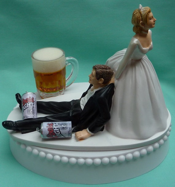 craft beer wedding cake topper wedding cake topper coors light mug cans drinker 13036