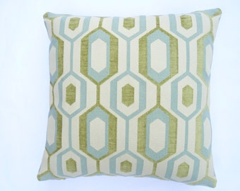"""Mid-Century Modern Accent Pillow -  17"""" x 17"""" feather/down insert included"""
