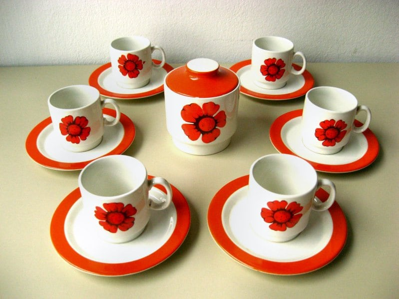 Vintage Espresso Cups Special Production by Italian