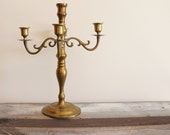 Vintage Brass Elegant Romantic Candelabra Candleholder Regency