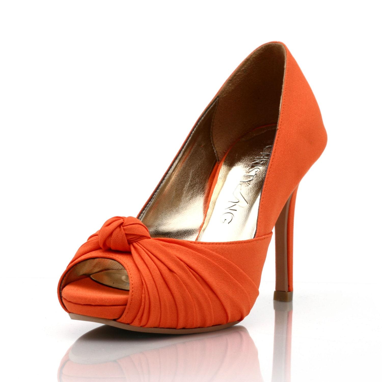 Custom Made Wedding Heels Orange Wedding Heels Pumpkin