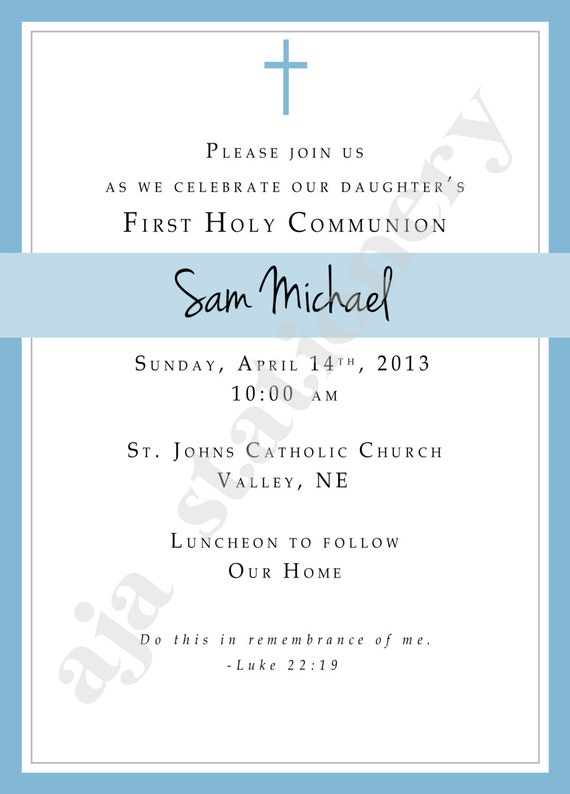 First Communion Invitations For Boys for good invitations ideas