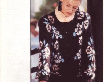 Flower Jacket knit pattern by Hayfield