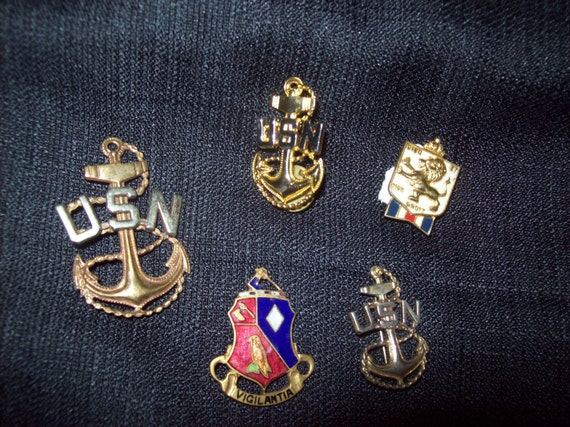 5  WWII Era Pins - FREE SHIPPING