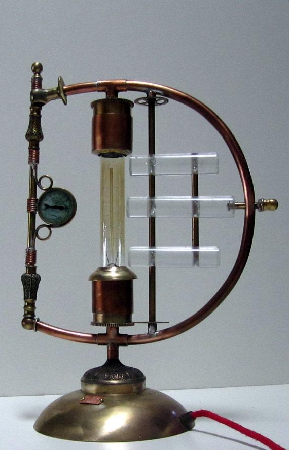 Steampunk Lamp Galvanic Impulse A Unique Copper
